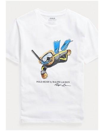 POLO KIDS - T-Shirt Sub Bear -White -
