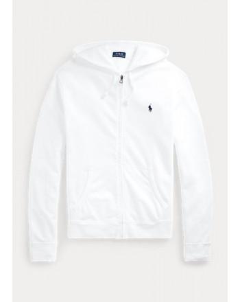 Polo Ralph Lauren - Felpa Zip Con Cappuccio - Bianco