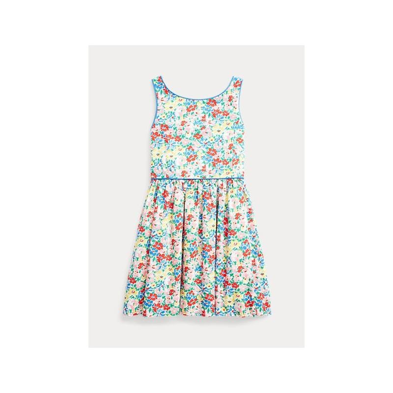POLO KIDS - Flowers Popelin Dress