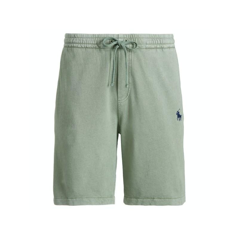 POLO RALPH LAUREN  -  fleece Bermuda Shorts - Military Green -