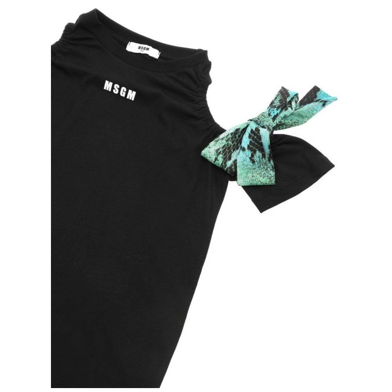 MSGM Baby -  Dress with bows application - Black
