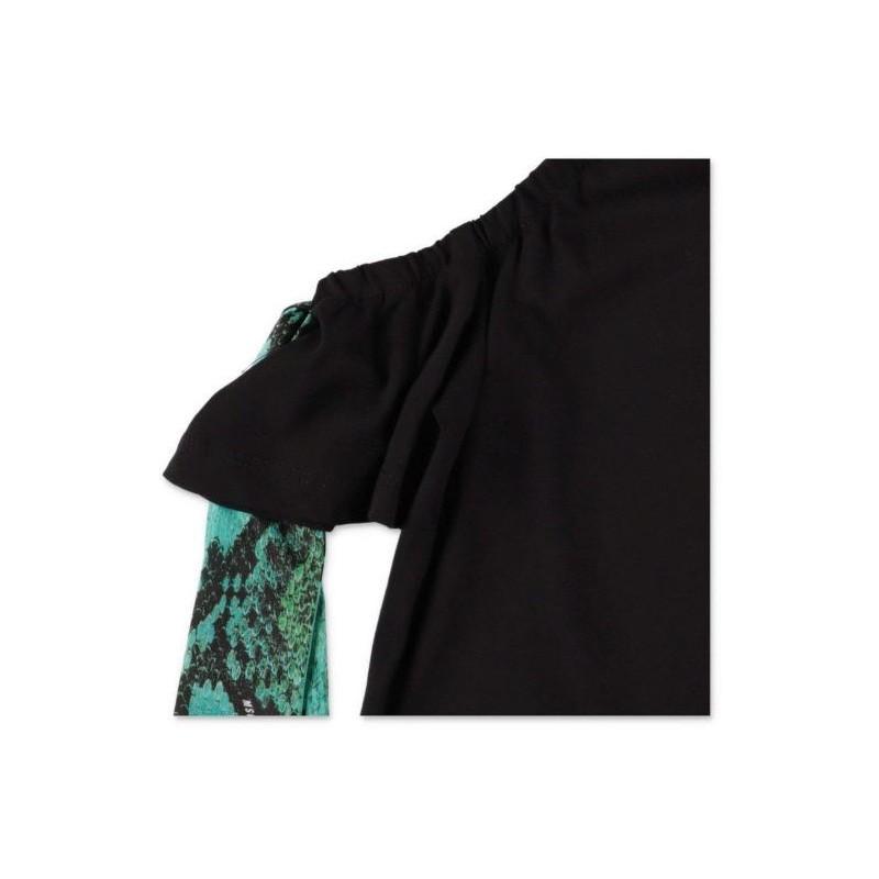 Msgm Baby - T-shirt Con Applicazioni Fiocchi - Nero