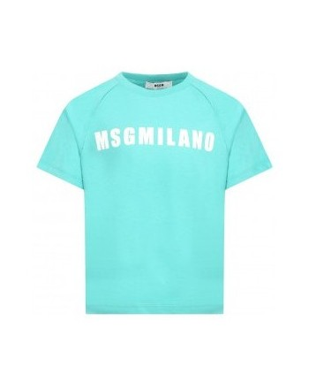 Msgm Baby - T-shirt With Logo - Tiffany