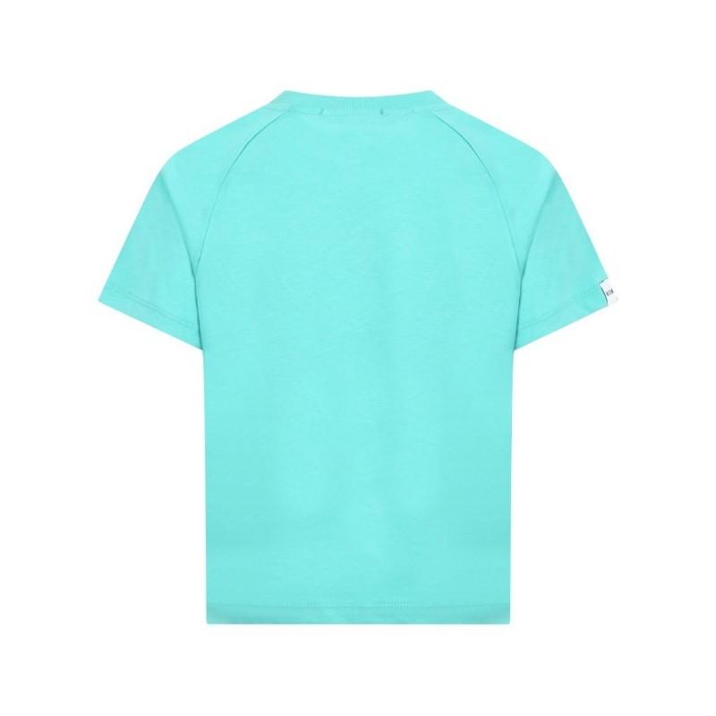 Msgm Baby - T-shirt Con Logo - Tiffany