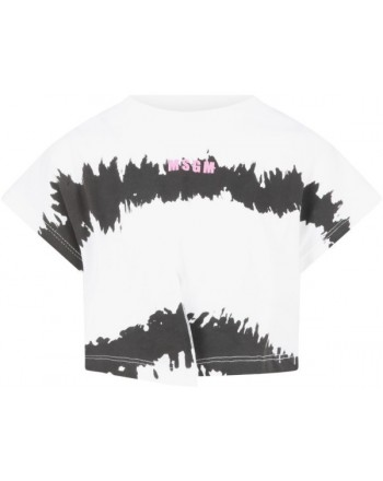 MSGM Baby - T-shirt with logo - White