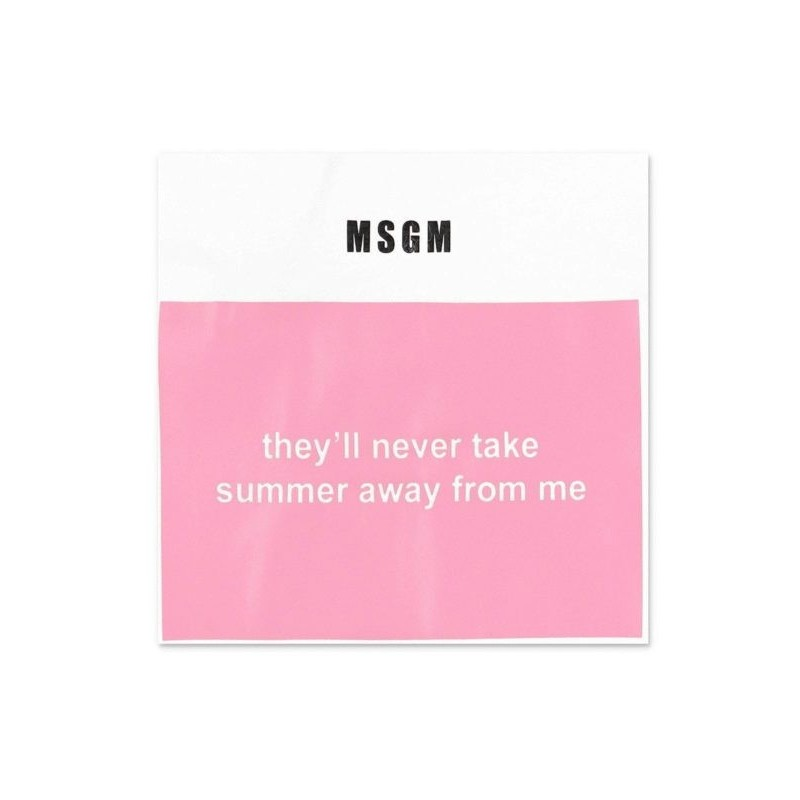 Msgm Baby - T-shirt With Print - White/Pink