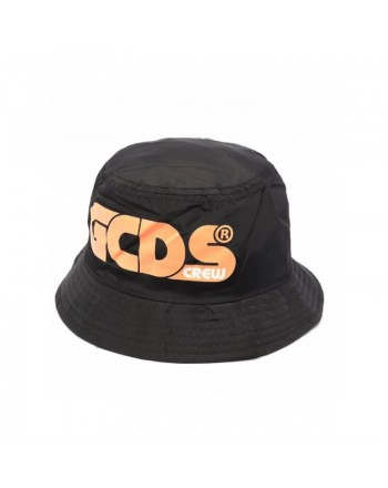GCDS Mini - Logo-print cloche hat - Black