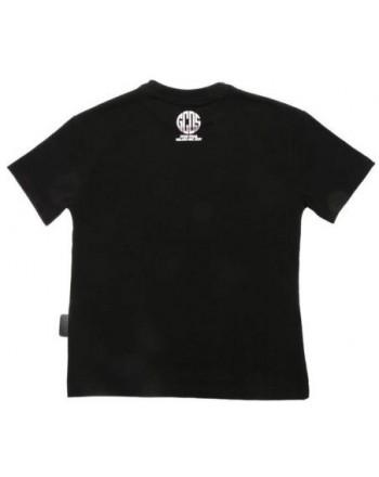 Gcds Mini - T-shirt Con Stampa - Nero