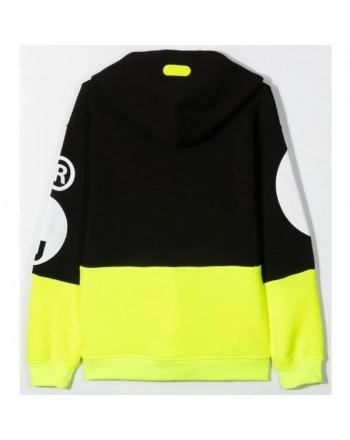 Gcds Mini - Felpa Con Cappuccio - Nero/giallo