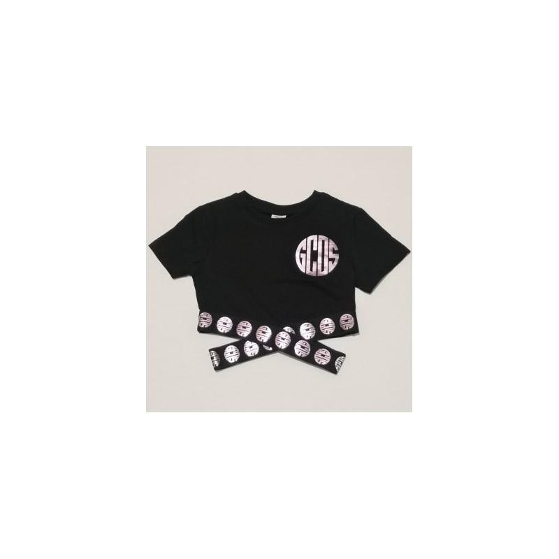 Gcds Mini - Top Crop Con Logo - Nero