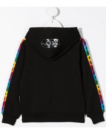 GCDS mini - Zip Hoodie - Black