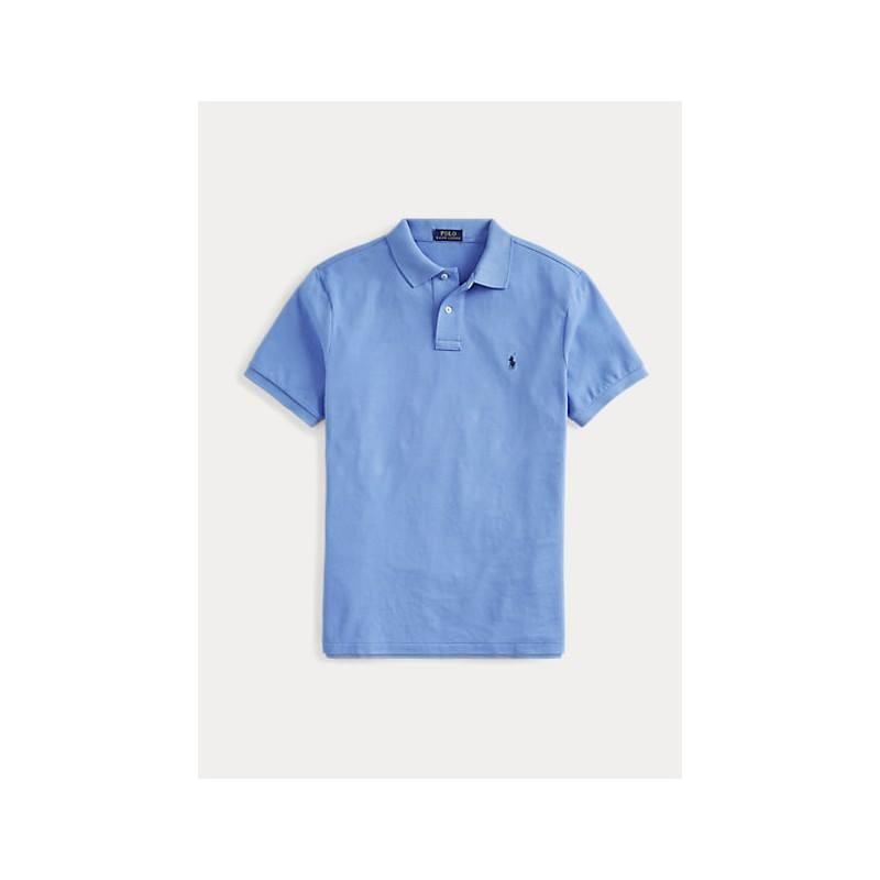POLO RALPH LAUREN  -  Polo in Pique' Slim-Fit - Azzurra -