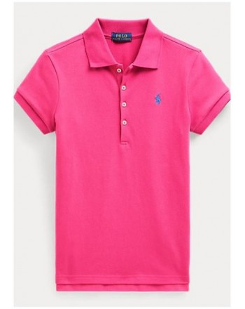 POLO KIDS - Basic 5-Button Polo Shirt - Fuxia -