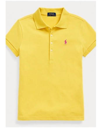 POLO KIDS - Basic 5-Button Polo Shirt - Yellow -