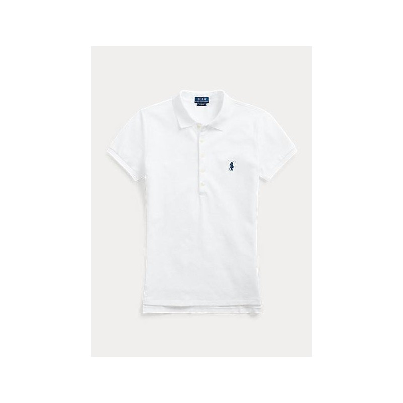 POLO RALPH LAUREN  - Basic 5-Button Polo Shirt - White -