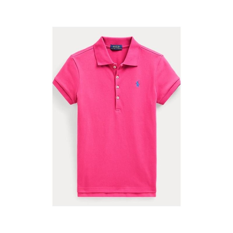 POLO KIDS - Polo Basic 5 Bottoni - Fucsia -