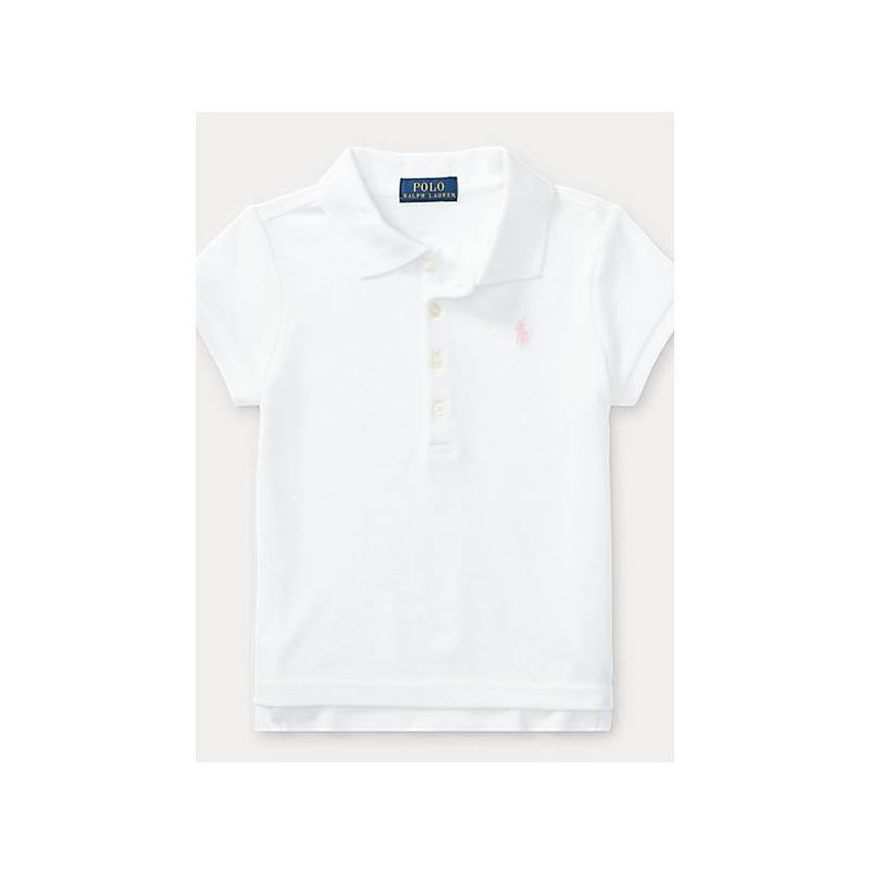 Polo Kids - Polo Basic 5 Bottoni Bianco