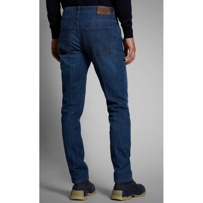 Fay - 5 Pockets Jeans - Dark Denim