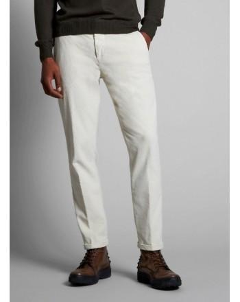 FAY - Velvet Trousers - Ice White