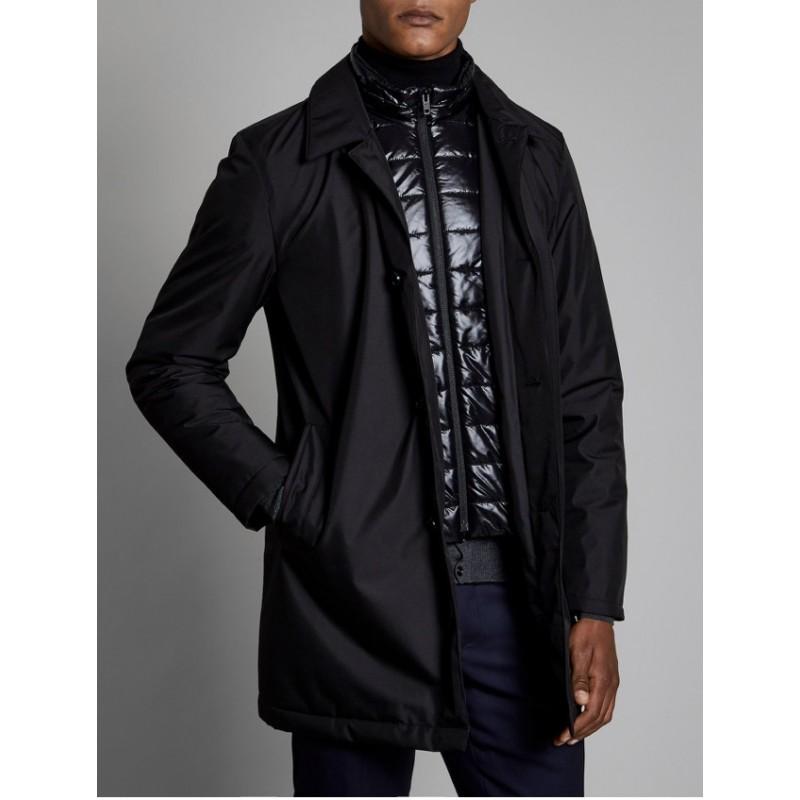 FAY - Padded Coat - BLACK
