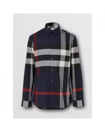 BURBERRY - Large check shirt - Navy