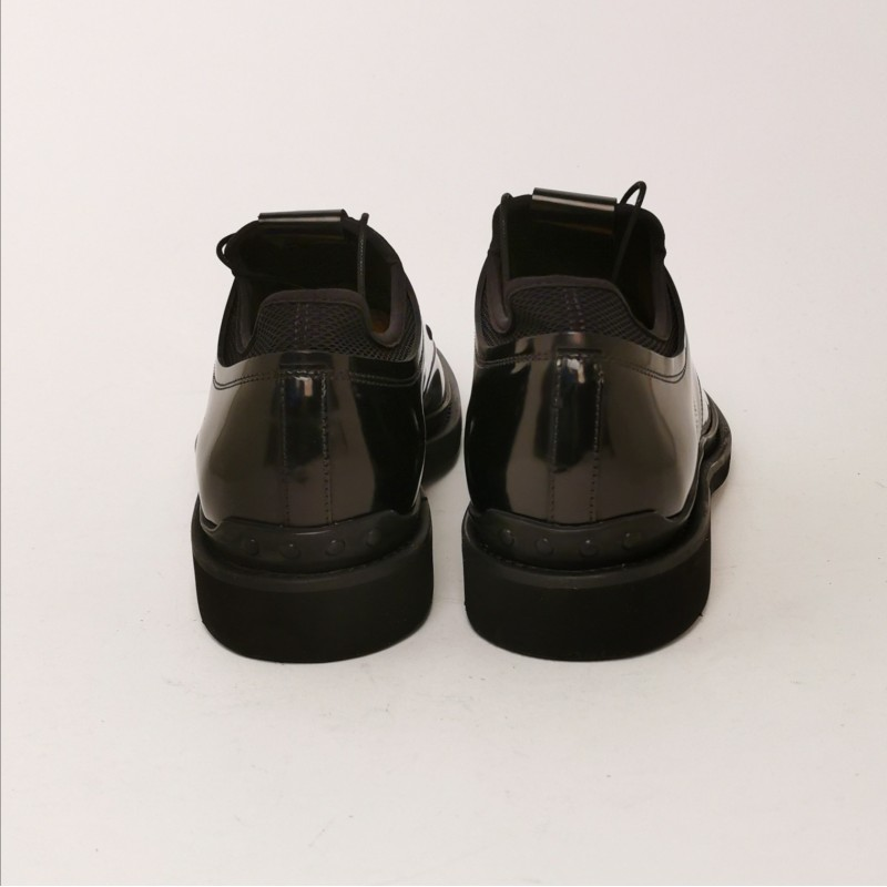 TOD'S - Glossy Leather Derby Shoes  - Black