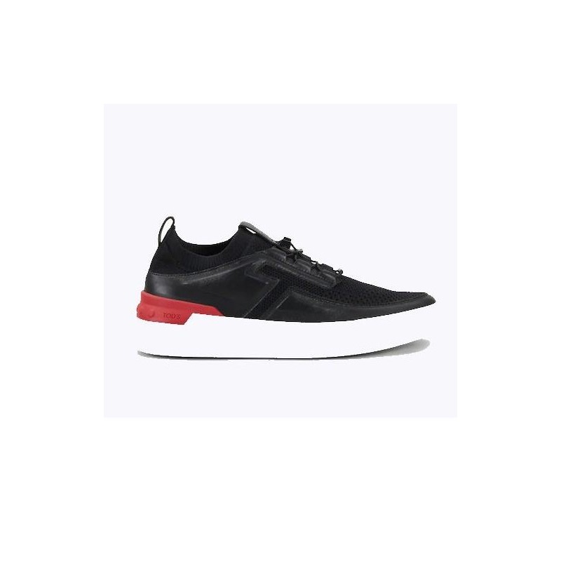 TOD'S - Leather tech frabric NO_CODE sneakers - Black