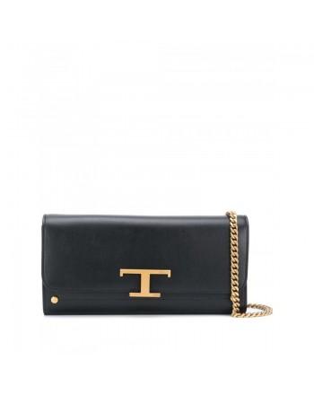 TOD'S - Leather Logo Clutch - Black