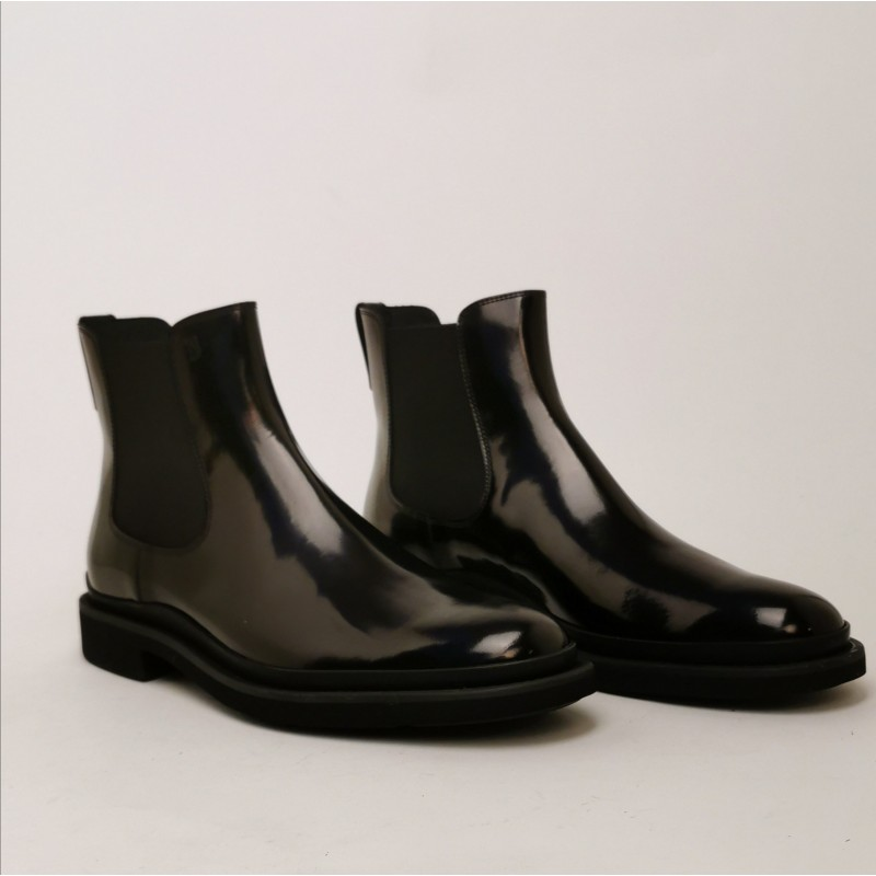 TOD'S - COLLEGE  Leather Beatles Boots - Black