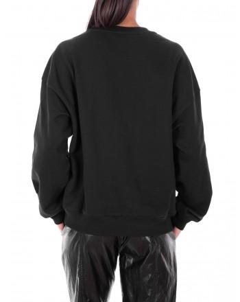 PHILOSOPHY di LORENZO SERAFINI  -Roundneck Sweatshirt with front Logo - Black/Red