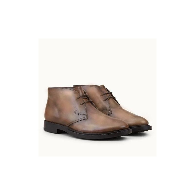 TOD'S - Leather half woods - Dark brown