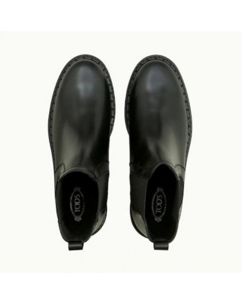 TOD'S - Leather Ankle boots - BLACK