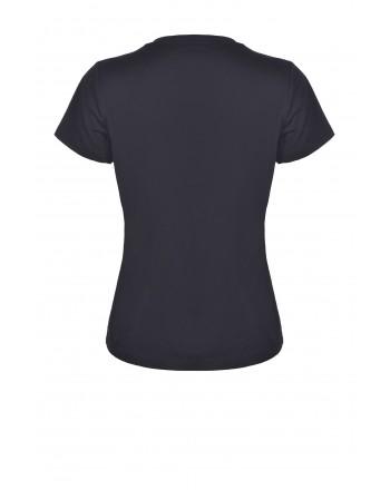 PINKO - Cotton T-Shirt QUENTIN - Black
