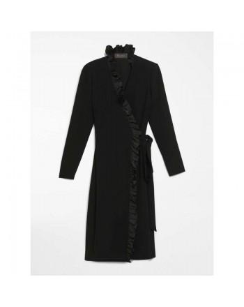 BURBERRY- Sciarpa leggera in lana e seta con motivo check - Beige