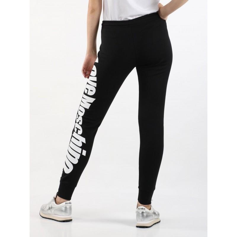 LOVE MOSCHINO - Pantalone con scritta logo - Nero