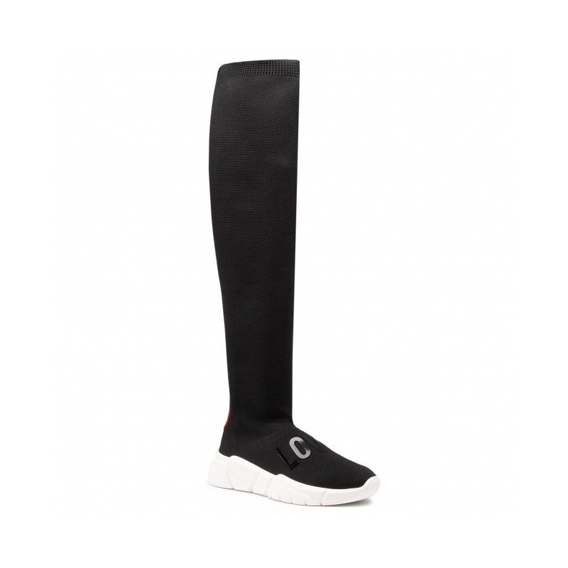 LOVE MOSCHINO- Tech Fabric Boots - Black