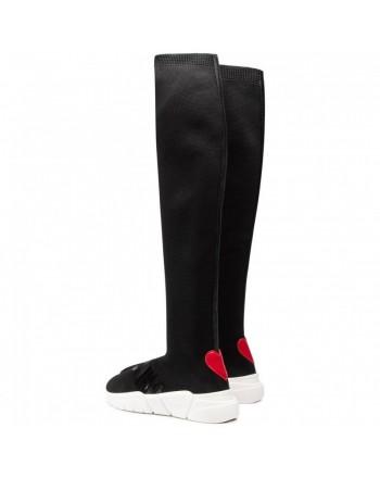 LOVE MOSCHINO- Stivali in Tessuto Tecnico - Nero