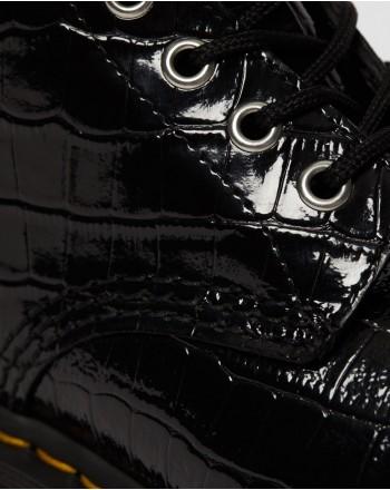 DR.MARTENS - 1460 CROC EMBASS - Black