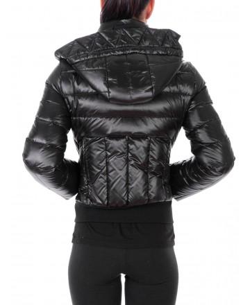 FAY - Shiny Short quilted duvet - Black