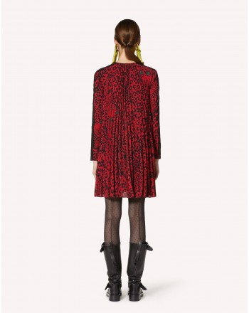 RED VALENTINO - Marocaine Pleated Dress - Red Kiss