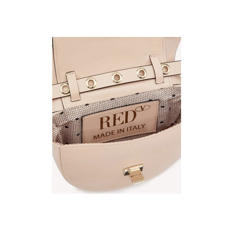 RED VALENTINO - Ruffles mini bag - NUDE