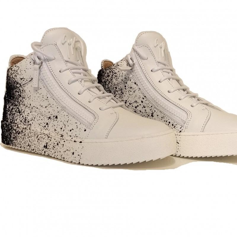 GIUSEPPE ZANOTTI - Sneakers BIREL in pelle - Bianco