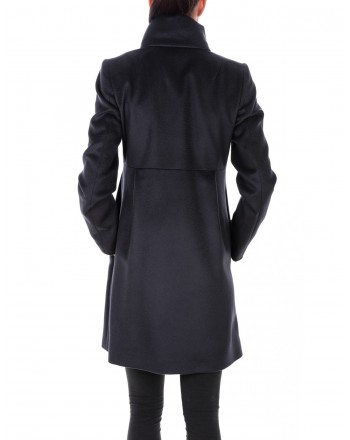 FAY - Wool and Cashmere Coat with Frogs  ROMANTIC - Blue