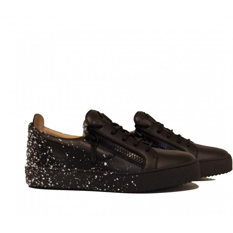 GIUSEPPE ZANOTTI - Sneakers in pelle - Nero