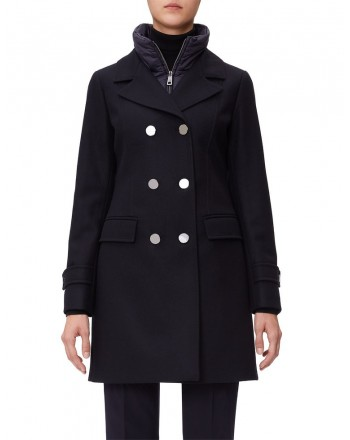 FAY - Doublebreasted Coat - Black