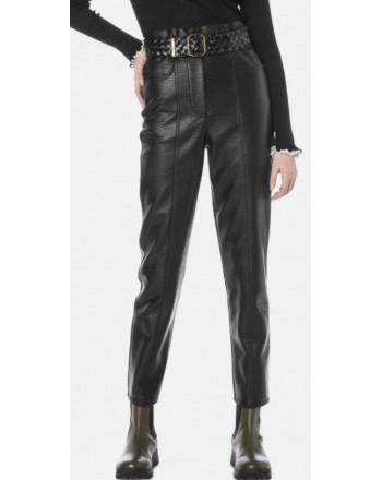 PHILOSOPHY di LORENZO SERAFINI  - Ecoleather Trousers - BLACK