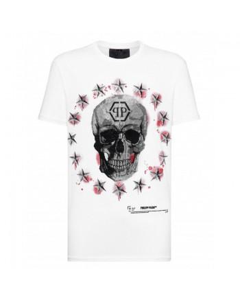 PHILIPP PLEIN - STARS & SKULL T-Shirt - White