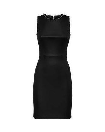 PHILIPP PLEIN - FULL COLOR Stretch Leather Dress - Black
