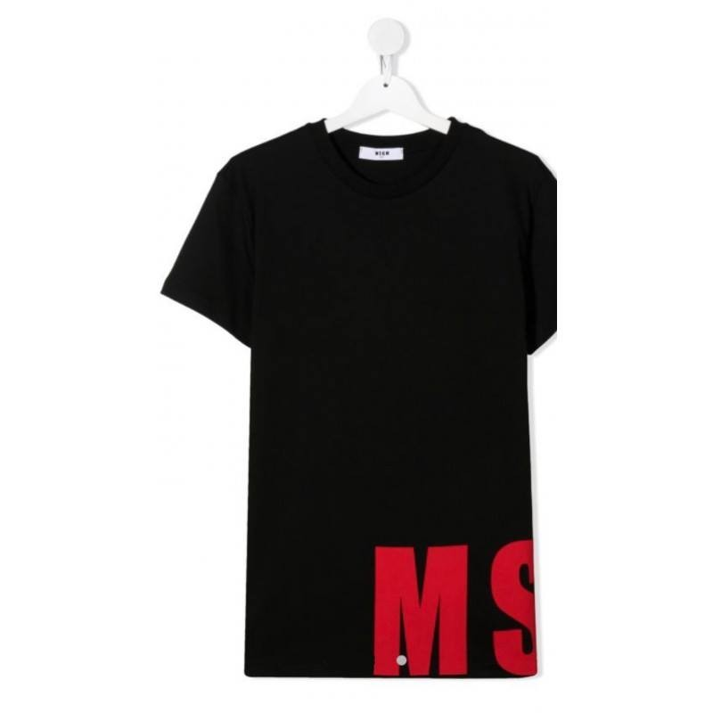MSGM Baby- Logo Printed T-Shirt- BLACK