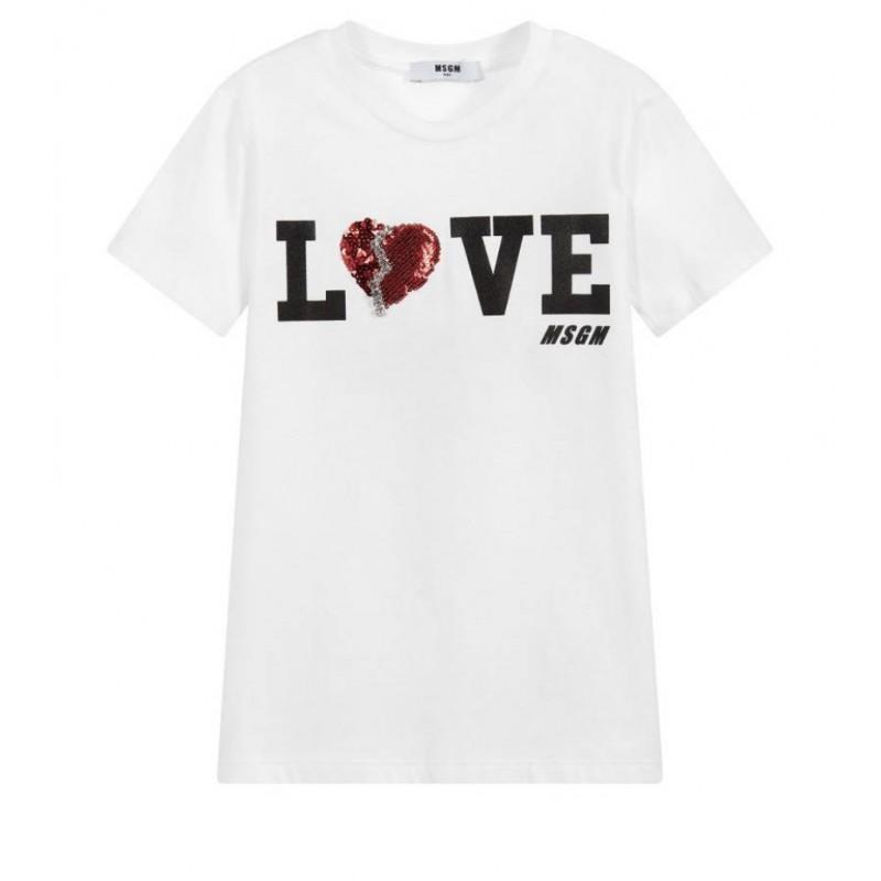 BURBERRY - T-shirt in cotone con motivo logo - Bianco